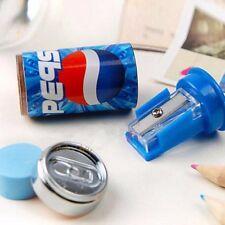 1Pair Student Juice Cans Coke Pencil Sharpener Eraser Novelty Stationery Gift
