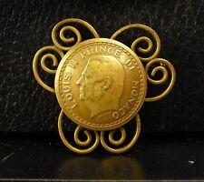 Médaille broche Louis II Prince de Monaco par Maubert 18 g medal 铜牌