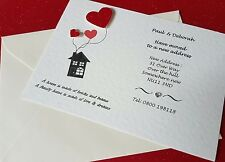 12 Personalised handmade Change of Address New Home House Moving Cards envelopes
