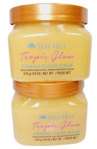 2 Tree Hut TROPIC GLOW Firming Sugar Scrub Size 18oz NEW Priority Shipping
