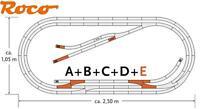 Roco H0 61104 geoLine Gleis-Set E 12 teilig mit 4 Weichen - NEU + OVP