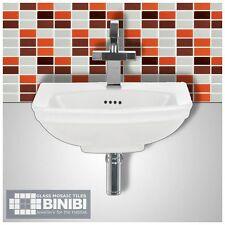 BRICK Rectangular Glass Mosaic Tiles Bathrooms Kitchens Wall Floors SALE! 4B-113
