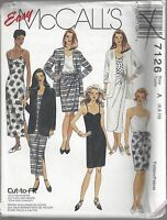 McCalls Sewing Pattern # 7126 Misses Jacket Dress Top and Skirt Choose Size