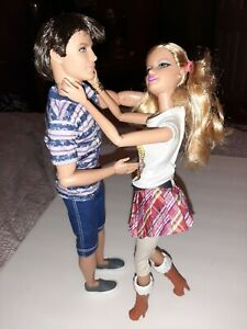 Barbie Fashionistas Ryan & Girlfriend Doll lot Brunette Rooted Hair Articulated