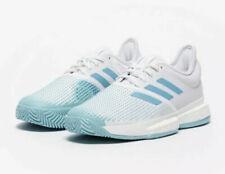 Adidas SoleCourt Boost Parley Tennis White Blue Spirit G26295 Sz 10