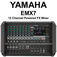 YAMAHA EMX7 12 Channel 1440w Powered FX Mixer with Built-in Feedback Suppressor