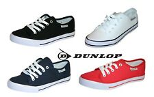 6ab17a8cf3bff Dunlop Women Girls Ladies Casual Lace Up Canvas Sneaker Pump Plimsole  Trainers