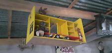 Rare vintage german yellow POSTOMAT wooden shelf shelving for matchbox dinky
