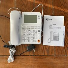 AT&T CL4940 Single Line Corded Phone - White - Good Condition