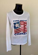 FABULOUS CHANEL PARIS-DALLAS LONG SLEEVE AMERICANA SHIRT Sz.M