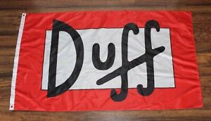 New Duff Beer Banner Flag The Simpsons Bart Homer Can Logo Great Gift for Fan