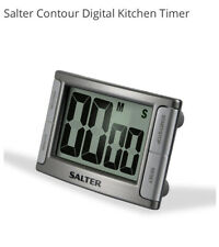 Kitchen Timer - Salter Large Display Contour Digital Cooks Timer Silver 396SVXR