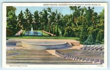 BATON ROUGE, LA ~ University of Louisiana GREEK THEATRE ca 1940s Linen Postcard