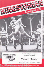 1986/87 KINGSTONIAN V YEOVIL TOWN 06-09-1986 Vauxhall-Opel League