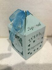 Aqeeqah Blue Its A Boy Treat Lolly Gift Favour Box  Sheep 10 Pieces Aqiqah