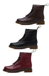 Dr. Martens Unisex 1460  Leather Boots Shoes 8 holes lacing Flats