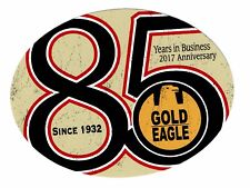 "GOLD EAGLE Sticker Decal 4"" x 3"""