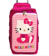 HELLO KITTY ROLLING LUGGAGE DUFFLE BAGHELLO KITTY BY SANRIO