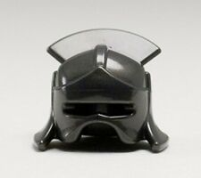 Lego - Minifig, Headgear Helmet Castle with Lateral Comb - Pearl Dark Gray