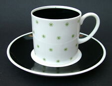 1950's Susie Cooper Starburst 120ml Coffee Cups & Saucers Black Signed - in VGC