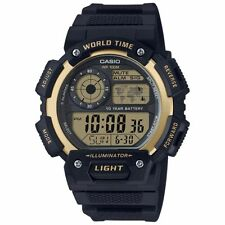 Casio AE1400WH-9AV Men's Resin Band World Time 5 Alarms Chronograph Sports Watch