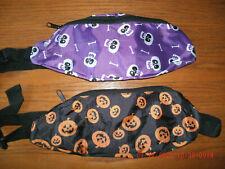 NEW Halloween Fanny Pack orange pumpkin or purple skull zipper pouch adjustable