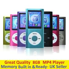 8GB 4TH GENERATION MP3 MP4 MUSIC MEDIA PLAYER FM RADIO VIDEO LCD SCREEN BLUE UK