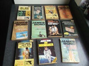 Ian Fleming James Bond Pan Books Paperbacks Bundle x 11 Vintage