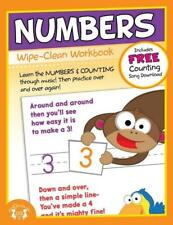 NEW 10pg Wipe-Clean Numbers Reusable Workbook Preschool Kindergarten Classroom