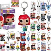 22 Styles Disney Funko POP Pocket Keychain Mini Vinyl Action Figures With Box