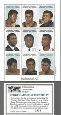 1998 Muhammad Ali International Collectors Society Stamp Sheet Comoros Islands