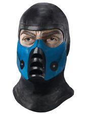 Overhead Latex Adult Subzero Sub Zero Mortal Kombat Costume Accessory Mask