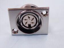 5 Pin 240 degree Standard DIN Audio Latching Flush Chassis Female Socket Z0008