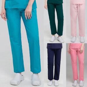Men's Ladies Classic Scrub Cargo Pants Nurse Doctor Medical Healthcare Trousers