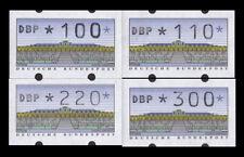 BRD Bund ATM 2.1.2 VS2 postfrisch **/gestempelt 100/110/220/300 Pfennig DBP fett