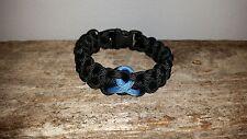 Prostate Cancer Awareness 550 paracord survival bracelet light blue ribbon