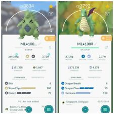 Pokemon Go Tyranitar, Shiny Dragonite - L40 - 2 Charge ATK - PvP Master League