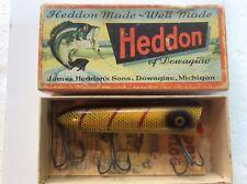 New listing Vintage Heddon Wood Lucky 13 Lure. 2500L, Gold Eye Bait