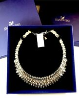 SOLD OUT NEW IN BOX SWAROVSKI CRYSTAL RHINESTONE LITE GREY SLAKE PULSE NECKLACE