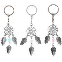 Dream catcher feather tassel keyring key chain ring keychain bag pendant charmHF