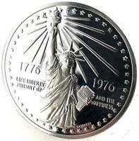 1976 American Revolution 1oz. Sterling Silver .925 National Bicentennial Medal.