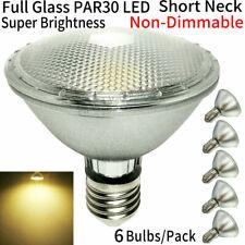Short Neck PAR30 LED Bulbs,Flood Light,Warm white 2700K-3000K,Indoor/Outdoor