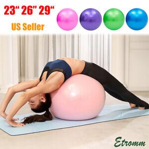 """23"""" 26"""" 29"""" Yoga Ball Exercise Anti Burst Fitness Balance Workout Stability US"""