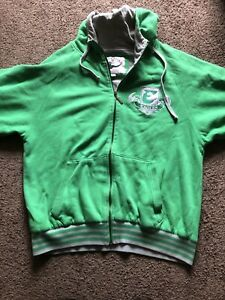 Philadelphia Eagles Mitchell & Ness Hoodie Throwback Green & Gray Large L