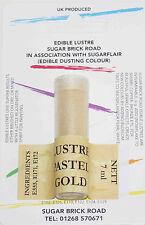 Sugarflair Colori Pastello LUSTRO D'Oro Polvere Polvere 7ml Luccicante Commestibile Cibo Colore Tinta