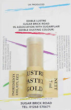 Sugarflair Pastel Gold Lustre Dust Powder 7ml Edible Sparkly Food Colour Tint