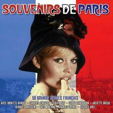 SOVENIRS DE PARIS - 50 GRANDS SUCCES FRANCAIS (NEW SEALED 2CD)