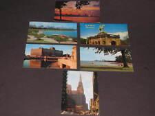 6 Clean Vintage CHICAGO POSTCARDS skyline,Merc Mart,Temple, Lincoln Park,Grant