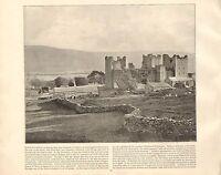 1894 Vittoriano Stampa ~ Bolton Castle Leybourn ~ Forti ( Testo