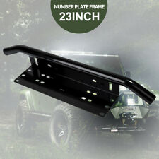 "Number Plate Frame BullBar Mount Bracket Car Driving Light Bar Holder BLACK 23"""